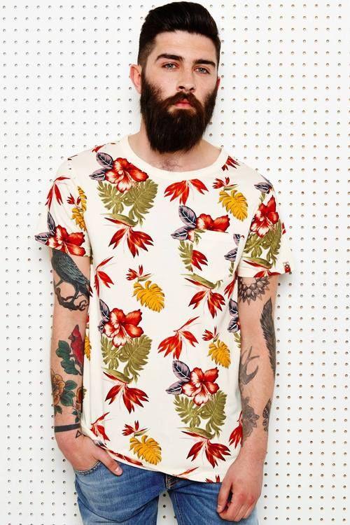 Beards n' Tats tattoo style fashion streetstyle men t shirt jeans denim