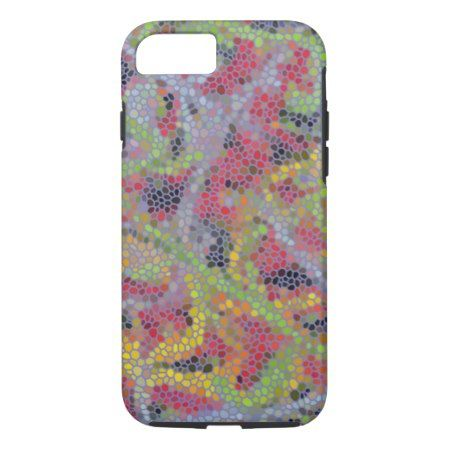 Stylish modern mosaic pattern iPhone 7 case - tap, personalize, buy right now!