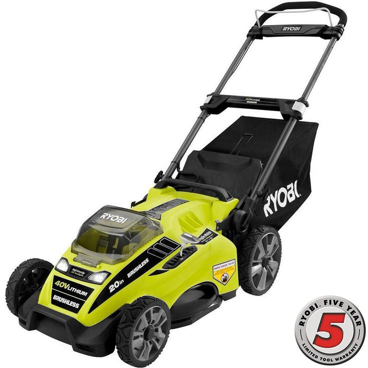 Ryobi 20 in. 40-Volt Brushless Lithium-Ion Cordless Battery Push Lawn Mower - 5.0 Ah - CHARGER ONLY! - DEC