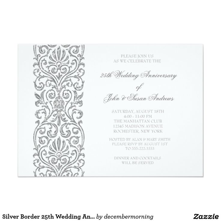 20 best 25 Wedding Anniversary Invitations images on Pinterest ...