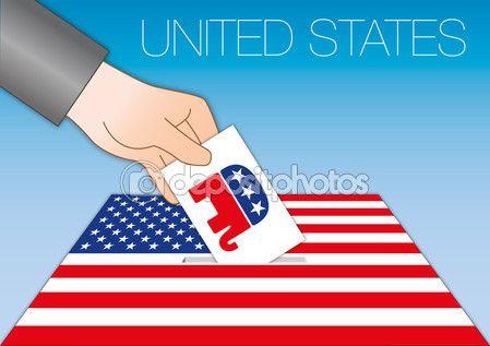 Stati Uniti - ottobre 2016 - voto per il Presidente del simbolo degli Stati…