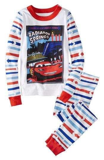 Hanna Andersson 'Cars™ - Lightening McQueen' Two-Piece Organic Cotton Fitted Pajamas (Toddler Boys