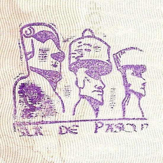 Tampon de passeport de l'île de Pâques // Tampon Ile de Pâques ◆Île de Pâques — Wikipédia http://fr.wikipedia.org/wiki/%C3%8Ele_de_P%C3%A2ques #Easter_Island