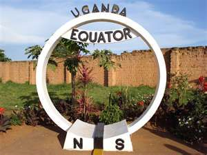 The Equator crosses the Mpigi District in Uganda. A lot of tourists visit this place.