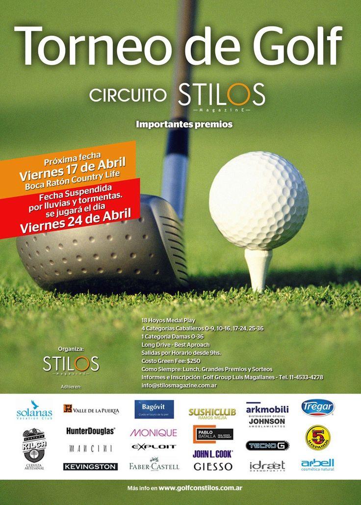 Golf con Stilos 2da. fecha 24 de abril en Boca Raton Country Life