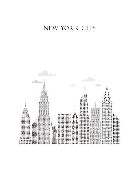 Van Etsy, of een andere mooie poster van New York/ van Etsy. Ik heb een witte lijst van 40x50 cm