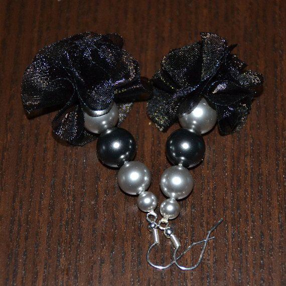 Swarovski pearl drop earrings silver plated earring hooks