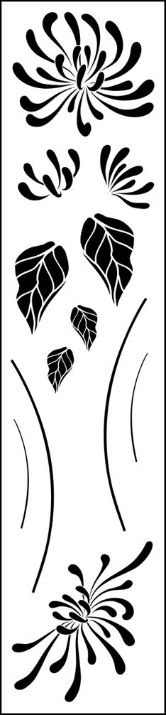 HONEYSUCKLE STENCIL - like the leaves, might try to recreate with my Undefined set