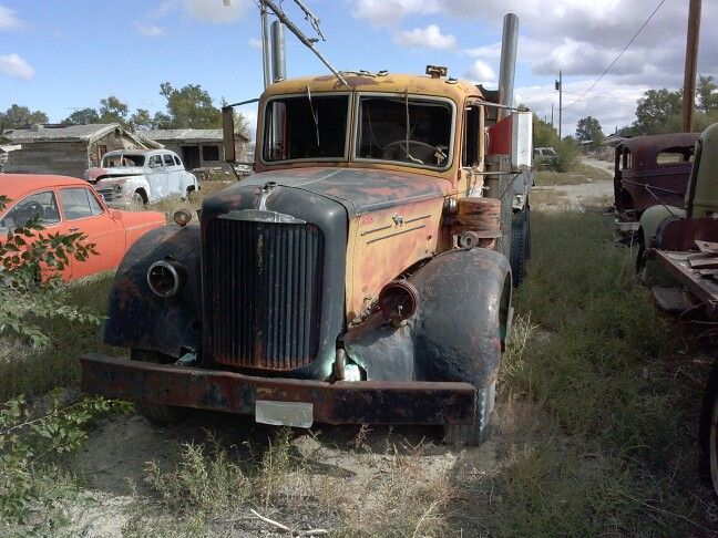 Old Mack dump truck in Montello,NV