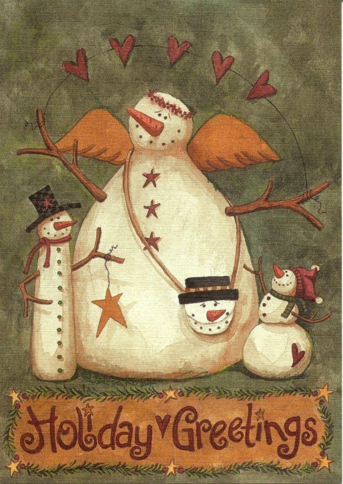 snowman angels | Snowman Angel card | Cards - Christmas
