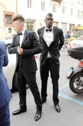 El Shaarawy and Niang at the ICON event.