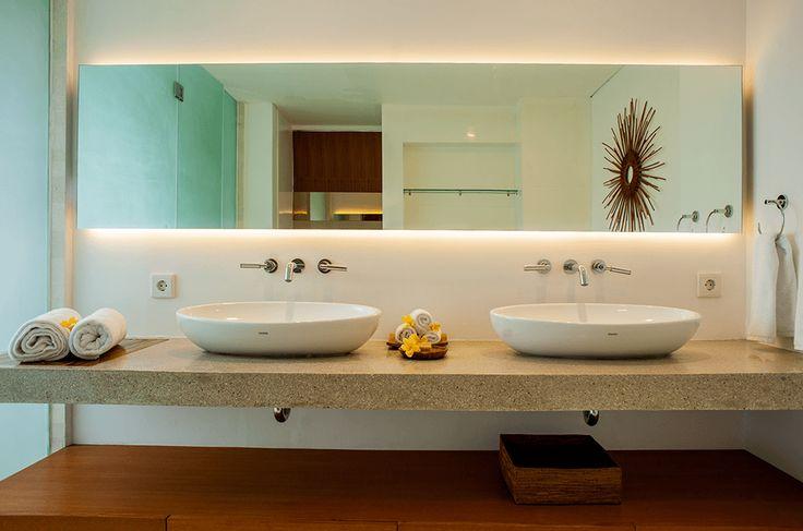 Luxuriously appointed bathrooms at Muse Villa, Seminyak, Bali.