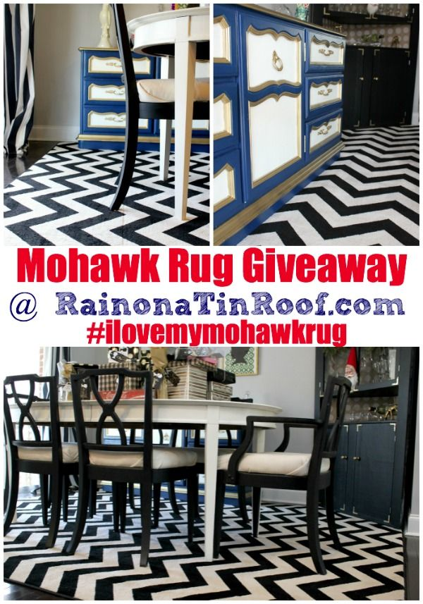 Black and Cream Chevron Mohawk Rug via RainonaTinRoof.com #ilovemymohawkrug