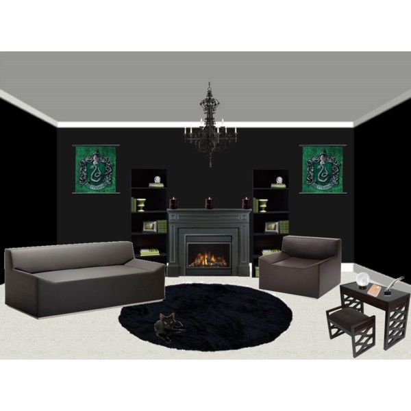 The Slytherin Common Room   created by sarabi kenshiu on Polyvore. 386 best SLYTHERIN DECOR images on Pinterest   Harry potter
