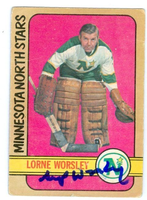 gump worsley hockey cards | Gump Worsley autographed hockey card (Minnesota North Stars) 1973 O ...