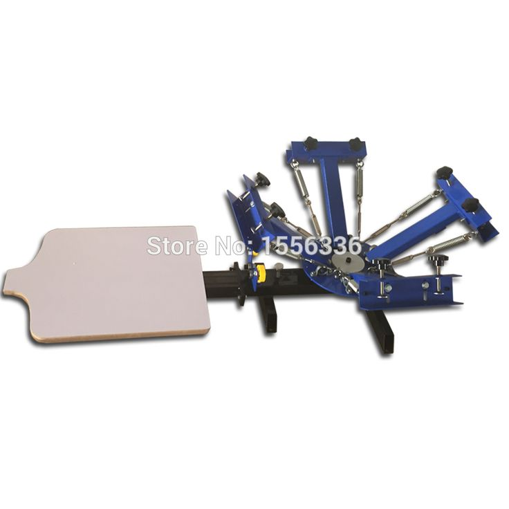 4 color 1 station t-shirt screen print machine, 4 color 1 station tabletop rotary screen printing machine
