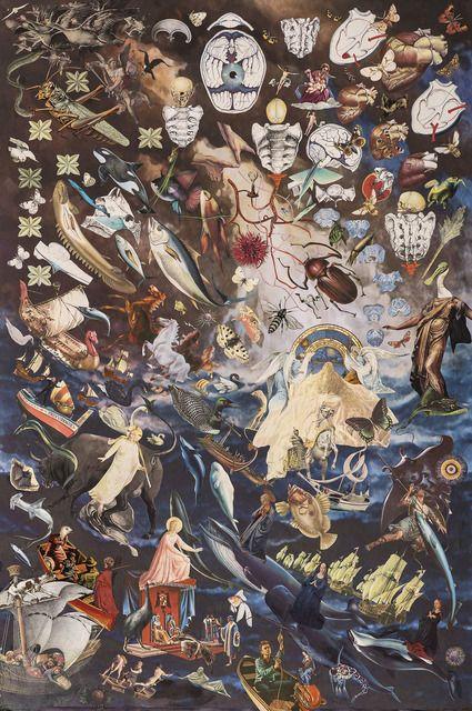 MAURICIO GARRIDO Rage, 2013 Collage 59 1/10 × 43 3/10 in 150 × 110 cm Galeria Isabel Croxatto