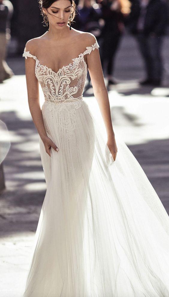 54 Best Off The Shoulder Wedding Dresses Images On