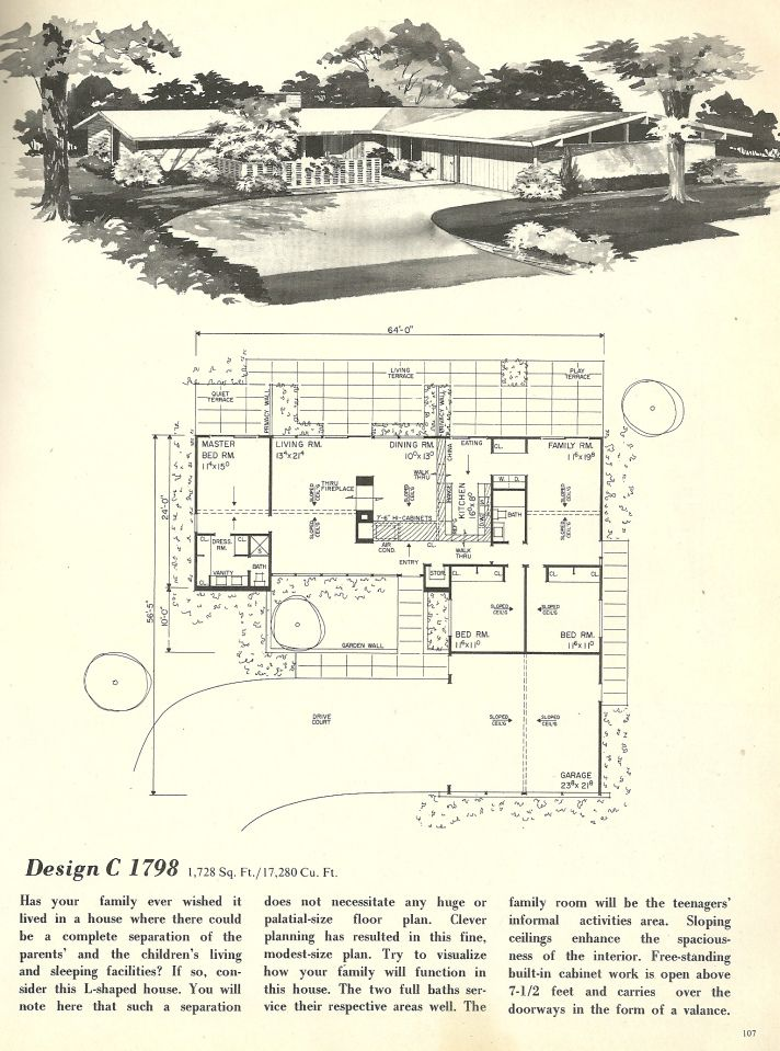 17 best images about suburban dream on pinterest modern for 1960 ranch house floor plans