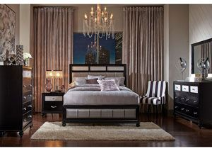 Barzini Black Eastern King Bed Available At Foothills Family Furniture