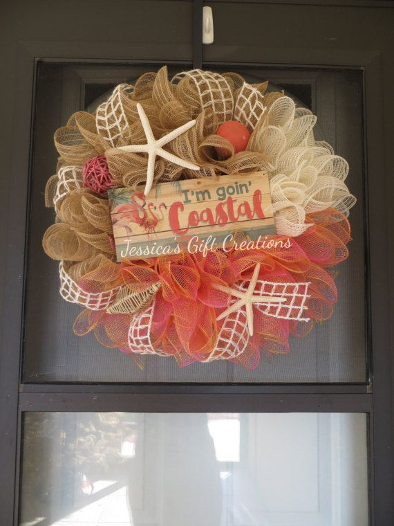 Hey, I found this really awesome Etsy listing at https://www.etsy.com/listing/513624273/goin-coastal-mesh-wreathdecomesh