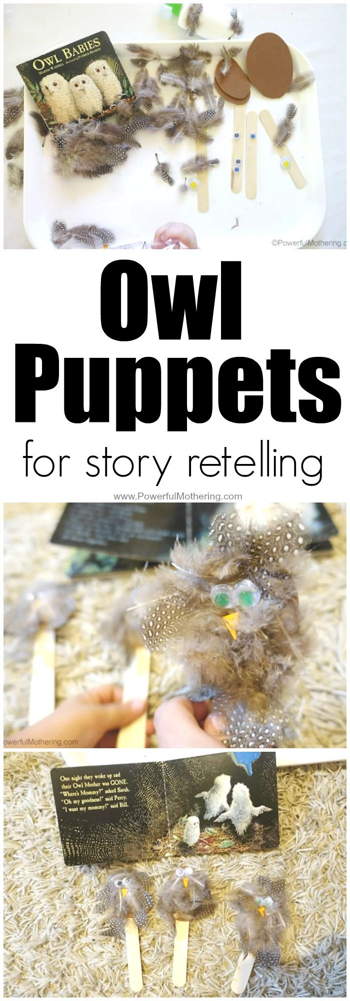 Owl Puppets For Story Retelling