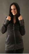 Juicy Couture Maternity : Velour Hoodie - Top Hat $128.00
