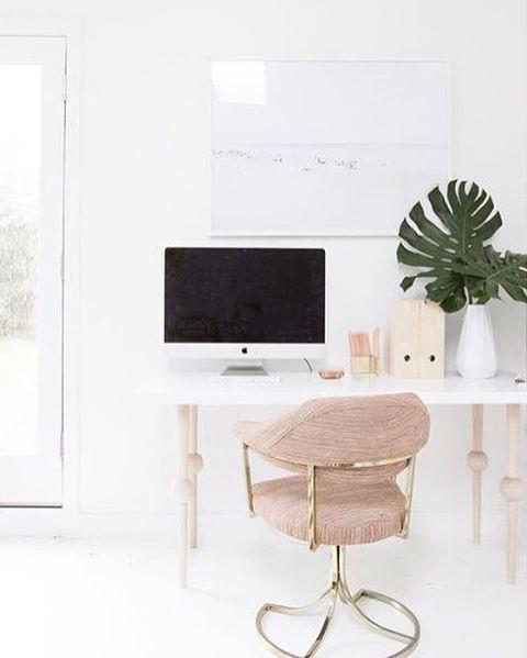 modern glam workspace // /workspacegoals/