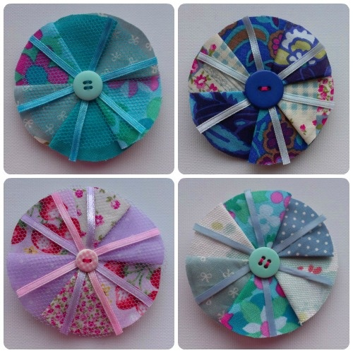 Fabric Brooches by craftypainter: The Tela, Fabric Flowers, Flowers