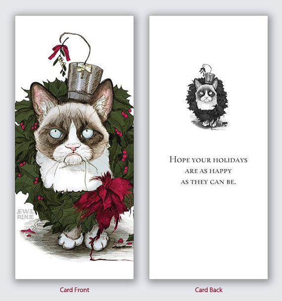 Grumpy Cat Christmas Card | Grumpy Cat | Pinterest