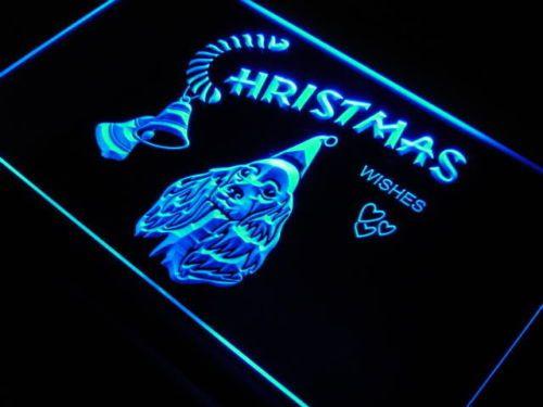 Cocker Spaniel Christmas Gift Bell Light Sign