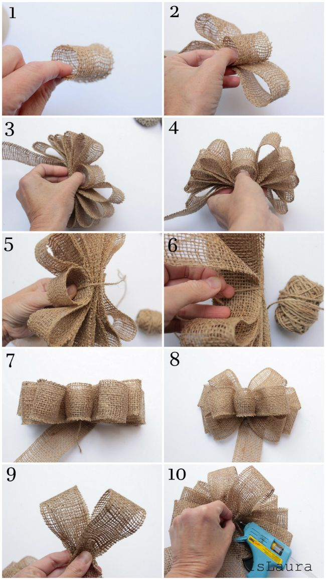 Assorted Jute Burlap Ribbon Rolls Rustic Christmas Flower Bows Fabric for crafts