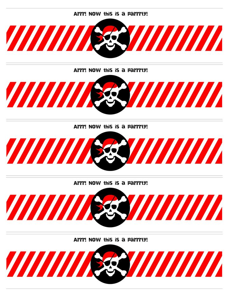 pirate party water bottle labels free printable from @How to Nest for Less print them on these full sheet labels http://www.onlinelabels.com/ol713.htm