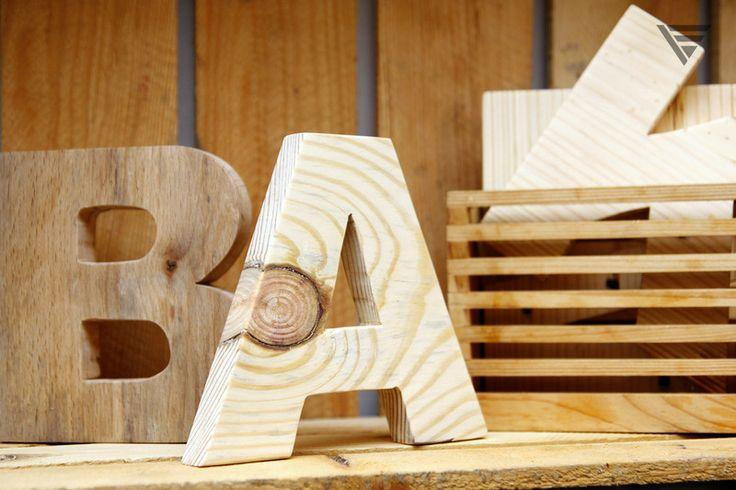 Literka drewniana - surowe drewno w Piąty Element na DaWanda.com