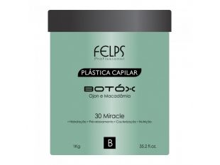 Hurry Up Girls ! Grab this offer of  Botox Plastica Capilar Ojon e Macadamia – Felps 1000g at an amazing price of $160.00 only  instead of $270.00. It is an effective treatment as much as Keratin Treatment, a modern treatment based on Ojon and Macadamia, super practical to Reduce Volume and Straightening Hair, handles all fiber structure, keeping aligned wires, nourished, strong, healthy and frizz-free .