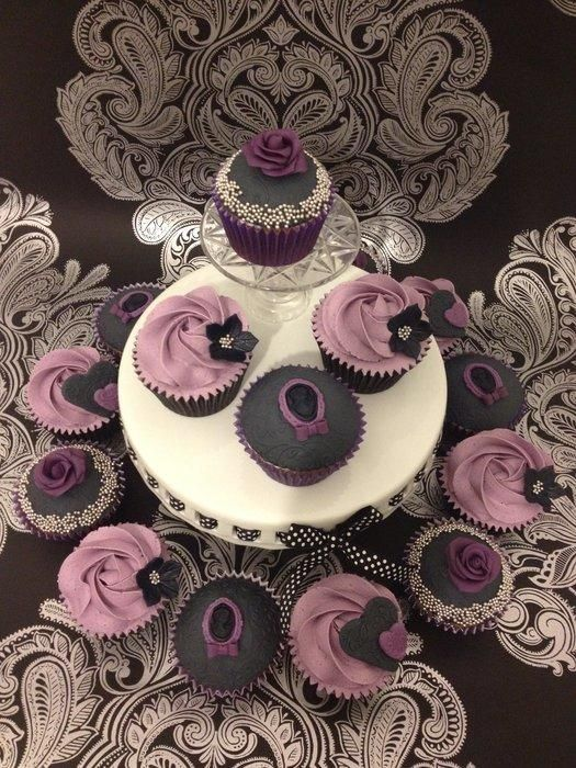 Victorian Gothic Chic Cupcakes - Cake by Cheryl Witcombe Thomas