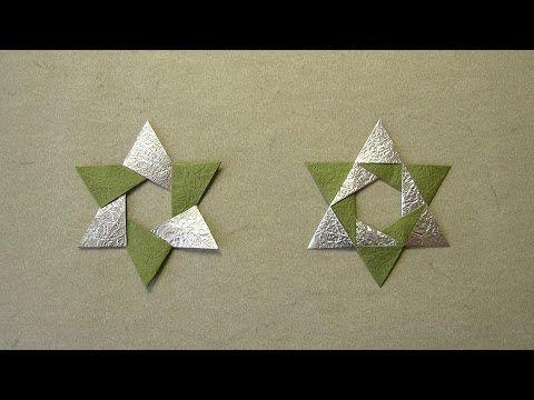 Origami für Weihnachten – 9 Weihnachtsstern Falta…