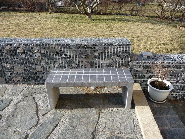 Concrete bench tiles