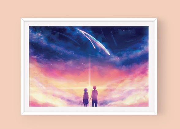 Kimi no Na Wa, Your Name Poster, 君の名は, Mitsuha and Taki, Makoto Shinkai, Kimi no Na Wa Artwork by SugarmintsArtstore on Etsy https://www.etsy.com/listing/540867595/kimi-no-na-wa-your-name-poster-jnno