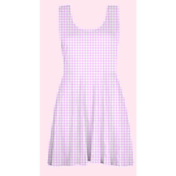 pastel gingham skater dress kawaii gyaru fairy kei grunge 90s plaid... (315 NOK) ❤ liked on Polyvore featuring dresses, summer dresses, plus size skater dress, pastel pink dress, sleeveless summer dresses and sleeveless skater dress