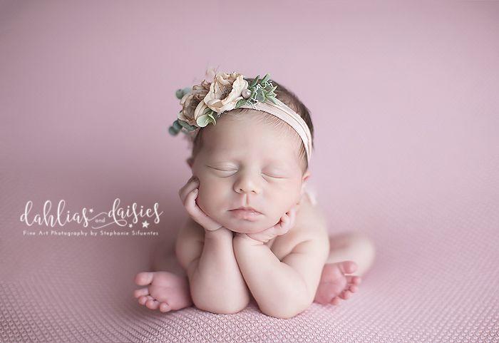 Dallas Newborn Twin Photographer, newborn girl, pink, froggie,flowers