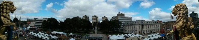 View from Rochdale Town Hall of the Feel Good Festival 2013