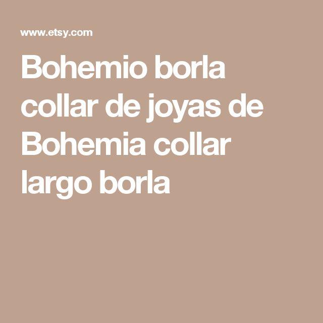 Bohemio borla collar de joyas de Bohemia collar largo borla