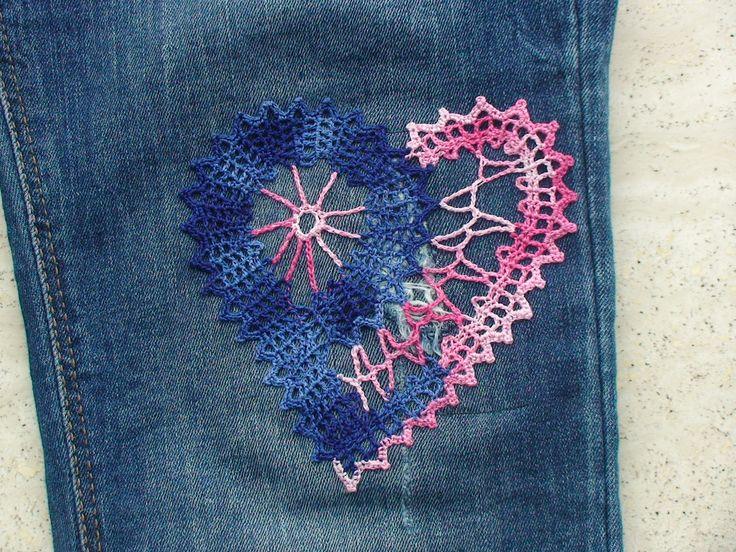 Irish Crochet hart.