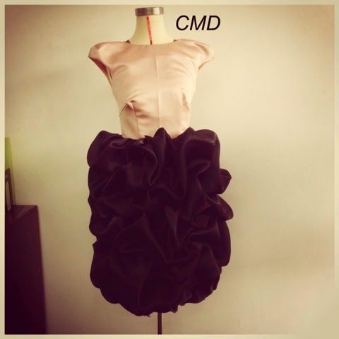 Peach black frill dress by Chasing My Dream Online StoreⓇ