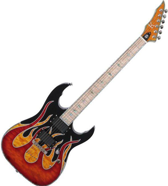 Kraken Hero Supreme KA Flame High-End Electric Guitar Unique Design Graphic #Kraken