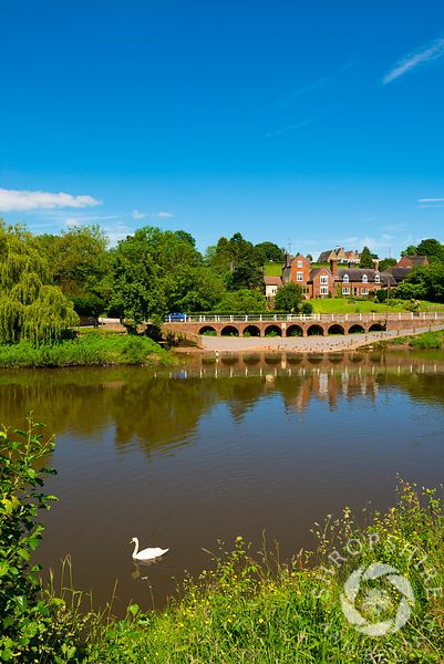 Upper Arley on the banks of the River Severn, Worcestershire, England.