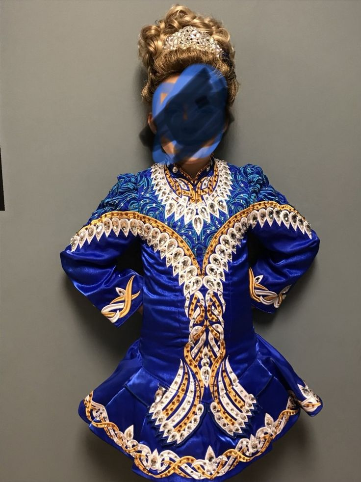Charming Blue Gavin Doherty Irish Dance Dress Solo Costume For Sale