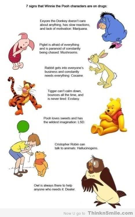 Winnie the Pooh Characters on Drugs