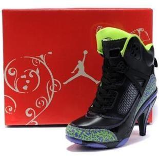 http://www.asneakers4u.com/ Air Jordan 3.5 High Heels Women Black Green I NEED all parts of these